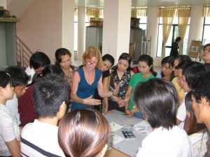 Robin teaching in Vietnam