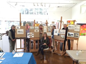 Robin and students at The Pacific Art League, Palo Alto, CA